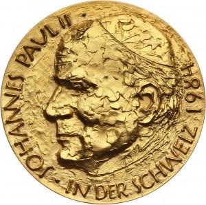Watykan, Jan Paweł II, medal w złocie z 1984 roku, Pielgrzymka do Szwajcarii