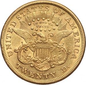 Stany Zjednoczone Ameryki, 20 dolarów 1875 CC, Carson City
