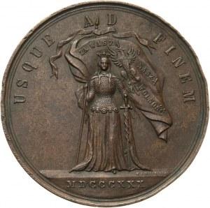 XIX wiek, medal z 1880 roku, 50-ta rocznica Powstania Listopadowego