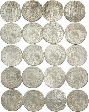 Ryga, Gustaw II Adolf, półtorak 1622, zestaw 20 sztuk