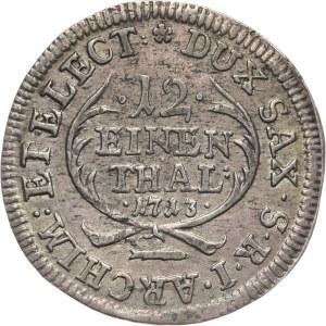 August II Mocny, 1/12 talara 1713 EPH, Lipsk