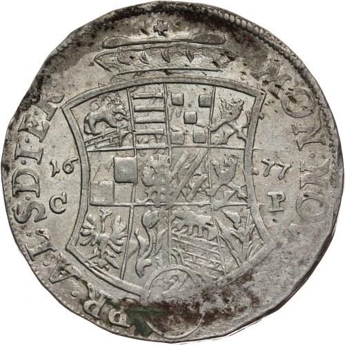 Niemcy, Anhalt-Zerbst, Karol Wilhelm, 2/3 talara 1677 CP, Zerbst