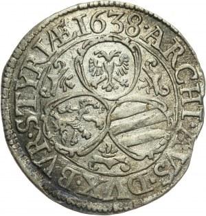 Austria, Ferdynand III, 3 krajcary 1638, Graz