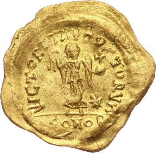 Bizancjum, Justynian I 527-565, tremissis, Konstantynopol