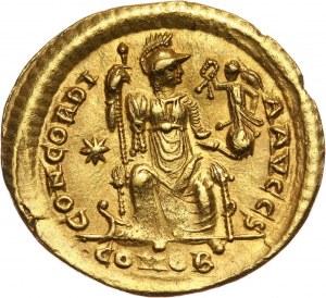 Cesarstwo Rzymskie, Teodozjusz II 408-450, solidus, Konstantynopol