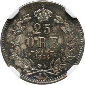 Szwecja, Karol XV, 25 ore 1864 ST