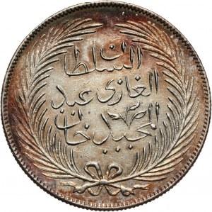 Tunezja, Muhammad al-Sadiq Bey, 5 piastrów AH1272 (1855)