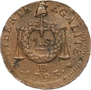 Francja, Republika, sol 1793 BB, Strasburg