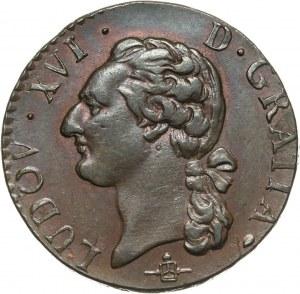 Francja, Ludwik XVI, 1/2 sola 1785 B, Rouen