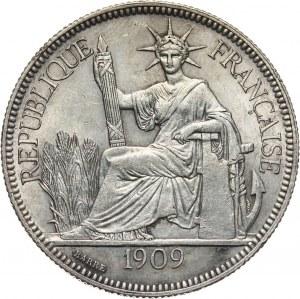 Francuskie Indochiny, piastra 1909 A, Paryż