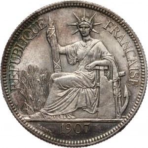 Francuskie Indochiny, piastra 1907 A, Paryż