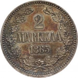Finlandia, 2 marki 1865 S, Helsinki