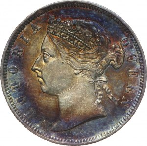 Straits Settlements, Wiktoria, 20 centów 1886