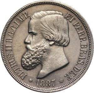 Brazylia, Piotr II, 1000 reis 1887