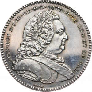Stanisław Leszczyński, medal z 1750 roku, Założenie Akademii Stanisława w Nancy