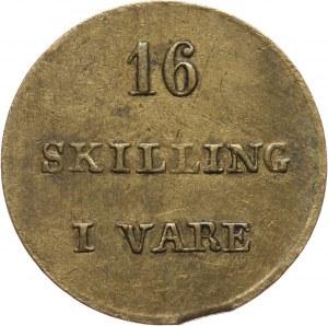 Islandia, C.F. Siemsen, 16 skilling bez daty (XIX wiek), Reykjavík