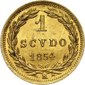 Watykan, Pius IX, scudo 1854-VIII R, Rzym