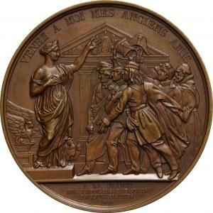 XIX wiek, medal z 1838 roku, przyjęcie polskich uchodźców we Francji