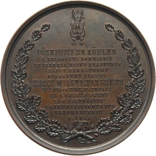XIX wiek, medal z 1854 roku, Józef de Köhler