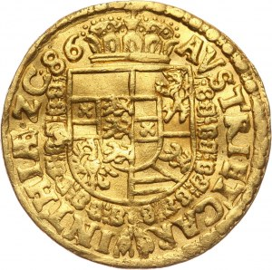 Austria, arcyksiąże Karol, dukat 1586, Klagenfurt