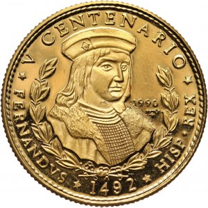 Kuba, 50 pesos 1990, 500 lecie Odkrycia Ameryki, Kolumb