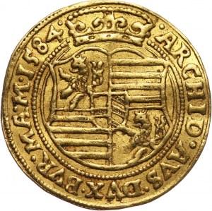 Austria, Rudolf II, dukat 1584, Praga