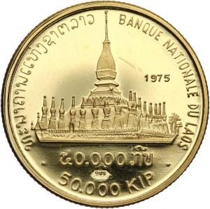 Laos, 50000 kip 1975, Pha That Luang