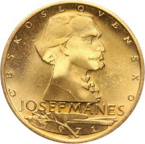Czechosłowacja, dukat medalowy 1971, Josef Mánes