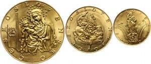 Czechosłowacja, zestaw 1, 2 i 5 dukatów medalowych 1973, Katedry