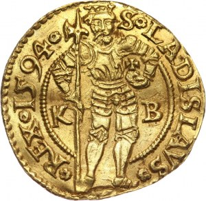 Węgry, Rudolf II, dukat 1594 KB, Kremnica