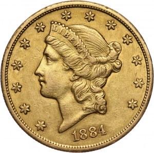 Stany Zjednoczone Ameryki, 20 dolarów 1884 CC, Carson City