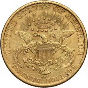 Stany Zjednoczone Ameryki, 20 dolarów 1890 CC, Carson City