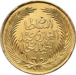 Tunezja, Muhammad al-Sadiq Bey, 100 piastrów AH1276 (1859)