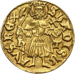 Węgry, Maciej Korwin 1458-1490, goldgulden bez daty, Nagyszeben
