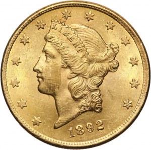 Stany Zjednoczone Ameryki, 20 dolarów 1892 CC, Carson City