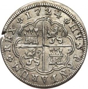 Hiszpania, Ludwik I, 2 reale 1724 A, Madryt