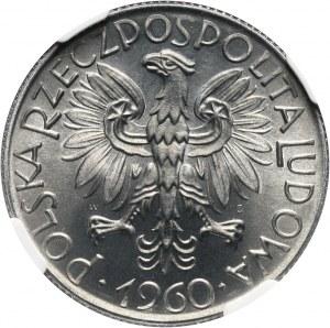 PRL, 5 złotych 1960, Rybak