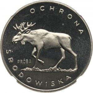 PRL, 100 złotych 1978, Łoś, PRÓBA, nikiel