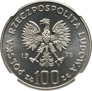 PRL, 100 złotych 1978, Bóbr, PRÓBA, nikiel