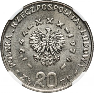 PRL, 20 złotych 1974, XXX lat PRL, PRÓBA, nikiel