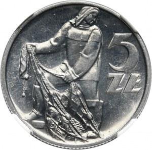 PRL, 5 złotych 1958, Rybak