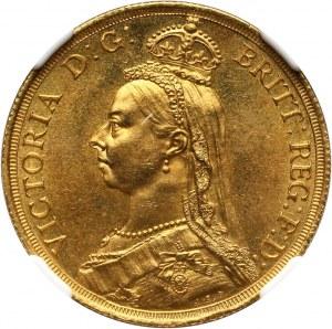 Wielka Brytania, Wiktoria, 2 funty 1887