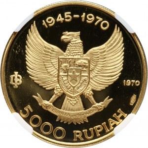 Indonezja, 5000 rupii 1970, Manjushri
