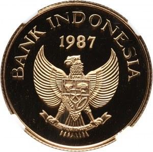 Indonezja, 200000 rupii 1987, Nosorożec jawajski