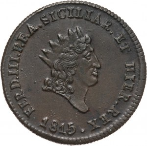 Włochy, Sycylia, Ferdynand III, 5 grani 1815 VB, Palermo