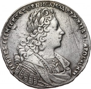 Rosja, Piotr II, rubel 1728, Kadashevski Dvor