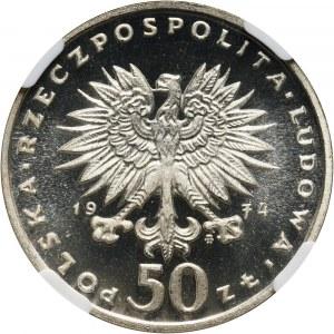 PRL, 50 złotych 1974, Fryderyk Chopin