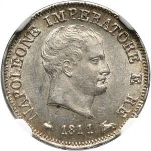 Włochy, Królestwo Napoleona I, 10 soldi 1811 M, Mediolan