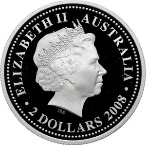 Australia, 2 Dollars 2008, Year of the Tiger, Proof