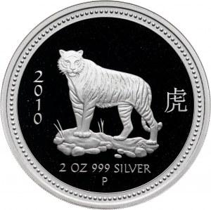 Australia, 2 dolary 2008, Rok Tygrysa, stempel lustrzany